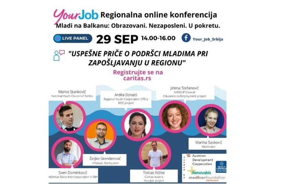 """Online panel """"Uspešne priče u zapošljavanju mladih u regionu"""""""