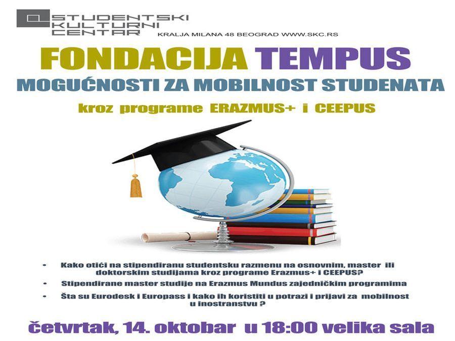 """Predavanje u SKC-u: """"Mogućnosti za mobilnost studenata kroz programe Erazmus+ i CEEPUS"""""""
